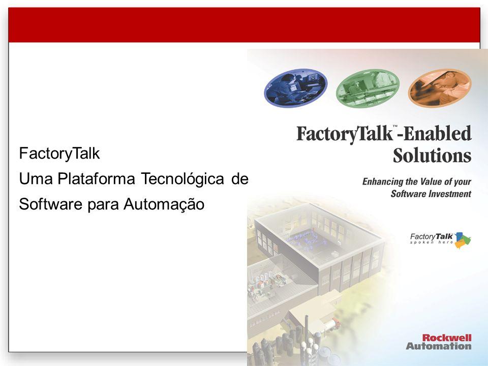 FactoryTalk Uma Plataforma Tecnológica de Software para Automação