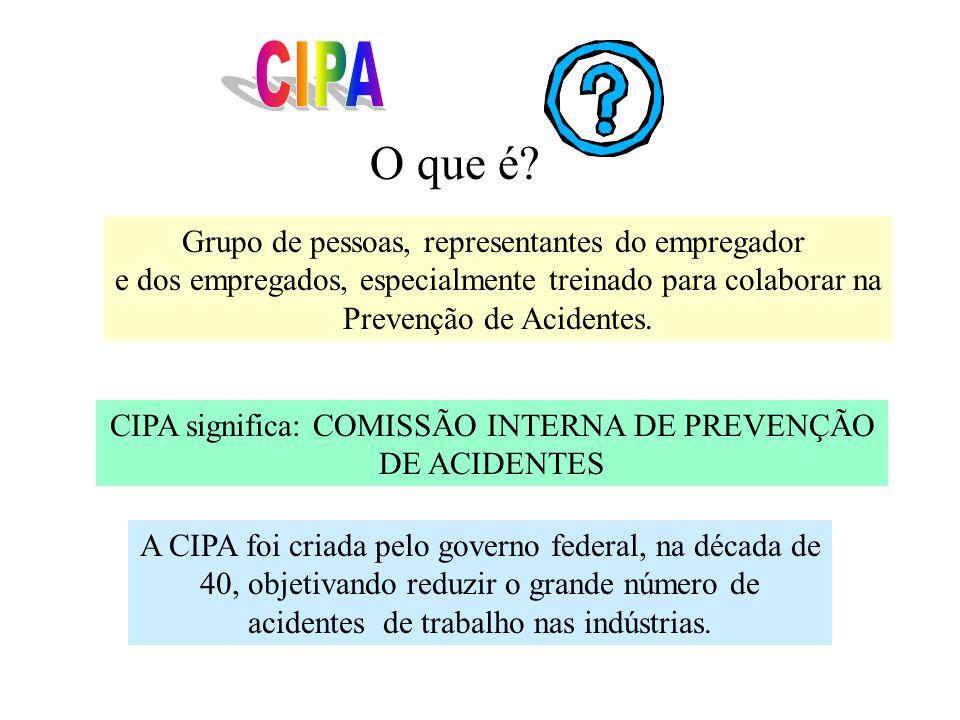 CIPA O que é Grupo de pessoas, representantes do empregador