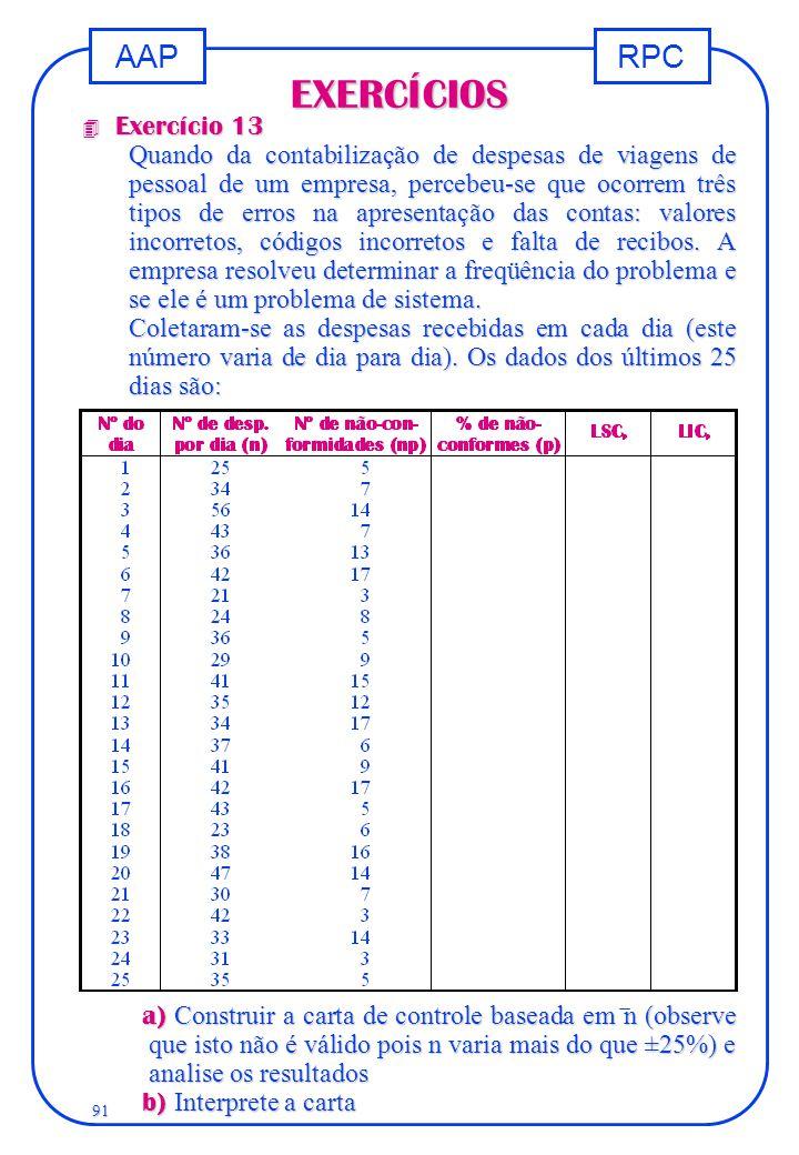 EXERCÍCIOS Exercício 13.