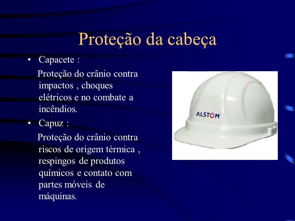 Proteção da cabeça Capacete :