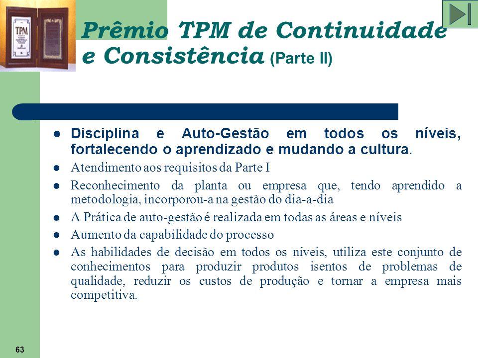 Prêmio TPM de Continuidade e Consistência (Parte II)