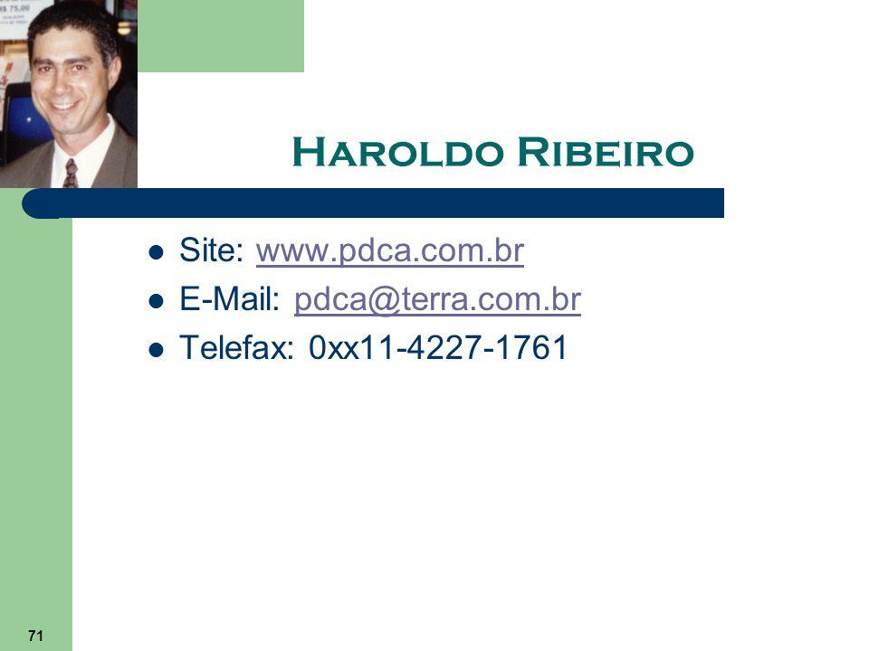 Haroldo Ribeiro Site: www.pdca.com.br E-Mail: pdca@terra.com.br