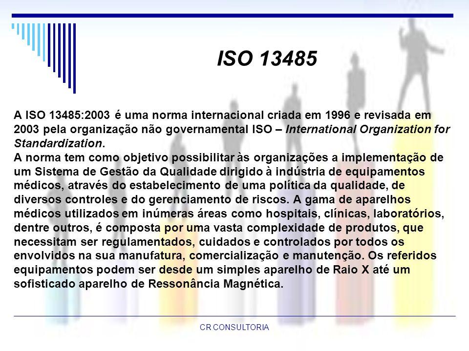 ISO 13485 A ISO 13485:2003 é uma norma internacional criada em 1996 e revisada em.