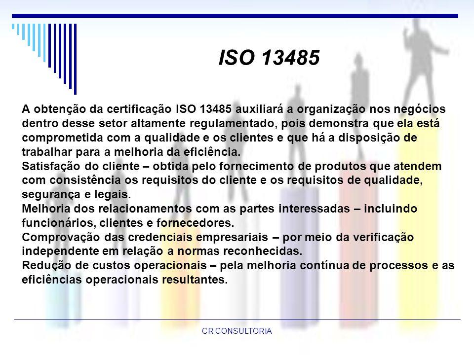 ISO 13485 A obtenção da certificação ISO 13485 auxiliará a organização nos negócios.