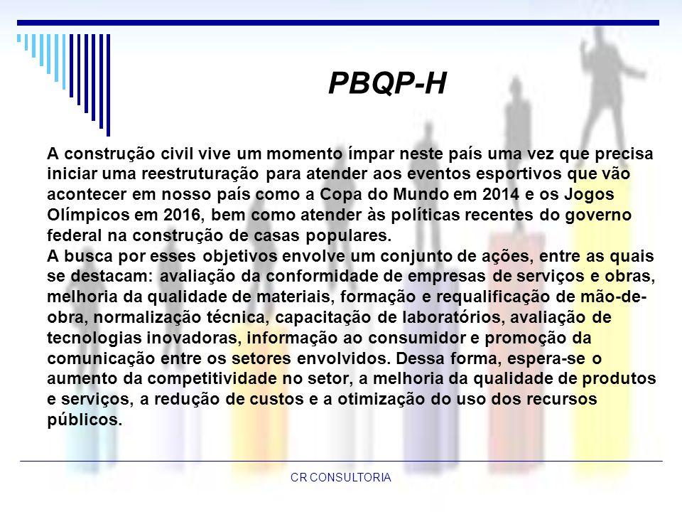 PBQP-H A construção civil vive um momento ímpar neste país uma vez que precisa.