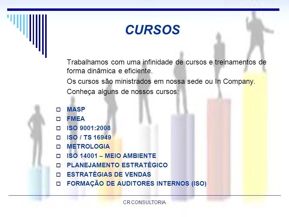 CURSOS Os cursos são ministrados em nossa sede ou In Company.