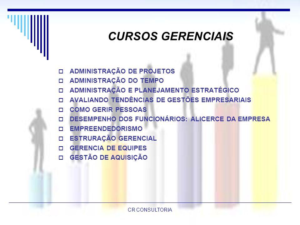 CURSOS GERENCIAIS ADMINISTRAÇÃO DE PROJETOS ADMINISTRAÇÃO DO TEMPO
