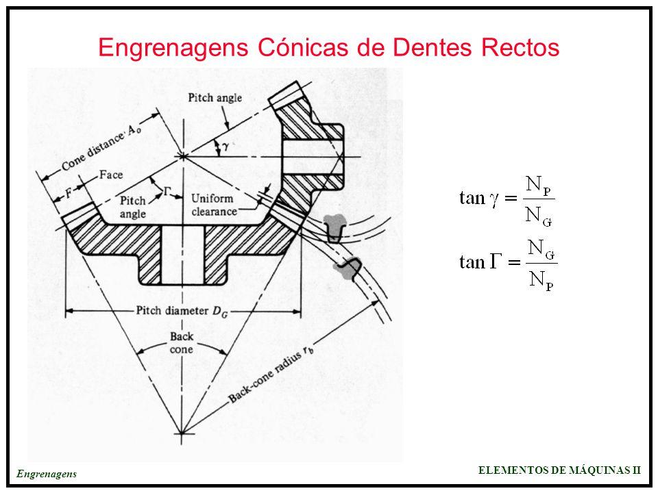 Engrenagens Cónicas de Dentes Rectos