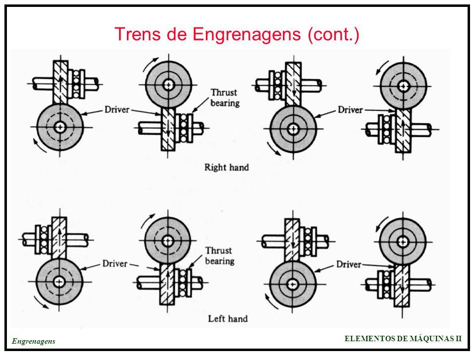 Trens de Engrenagens (cont.)