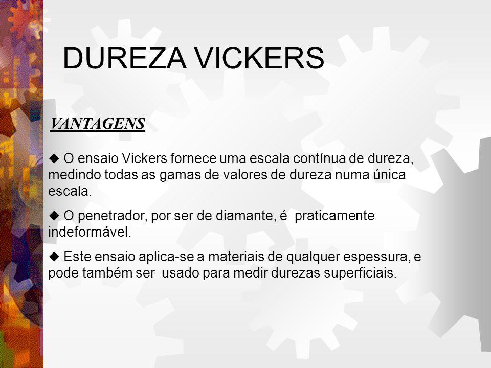 DUREZA VICKERS VANTAGENS