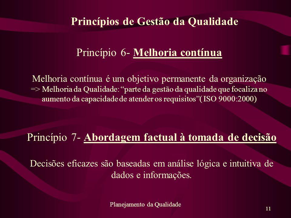 Princípios de Gestão da Qualidade
