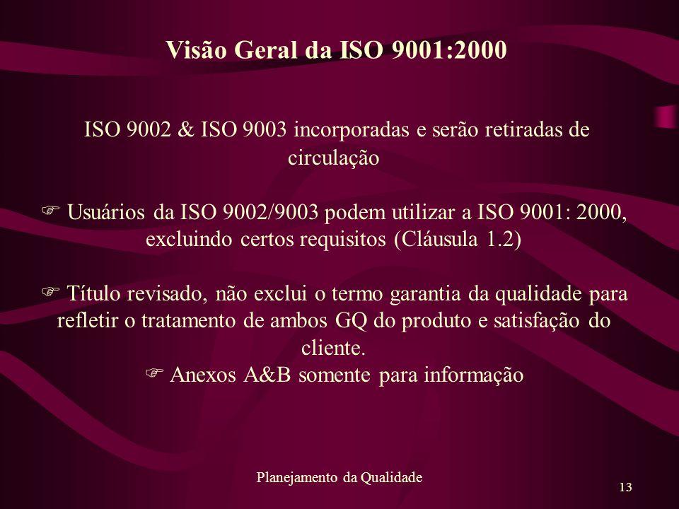 ISO 9002 & ISO 9003 incorporadas e serão retiradas de circulação