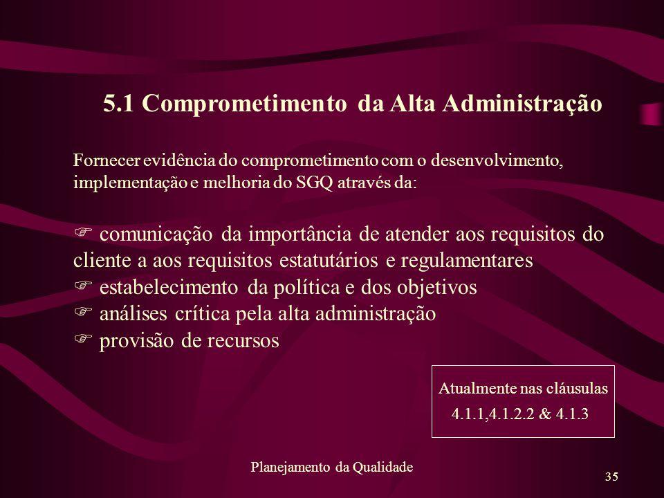 5.1 Comprometimento da Alta Administração