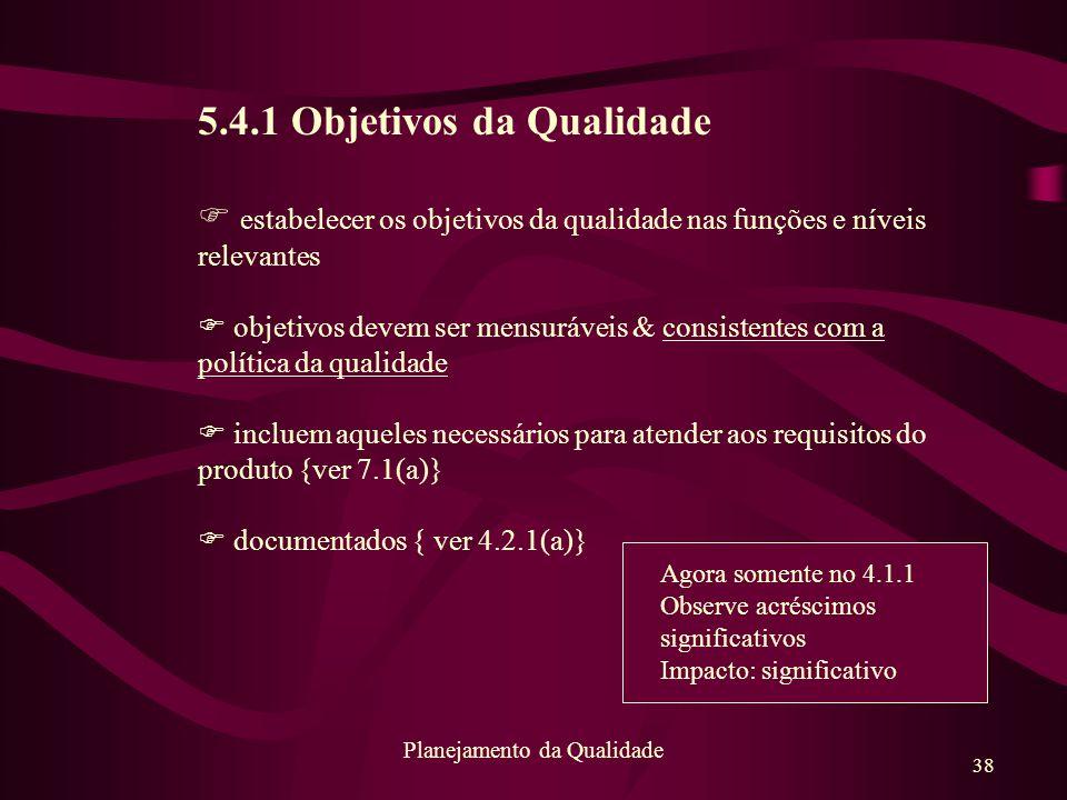 Planejamento da Qualidade