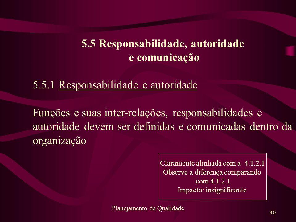 5.5 Responsabilidade, autoridade
