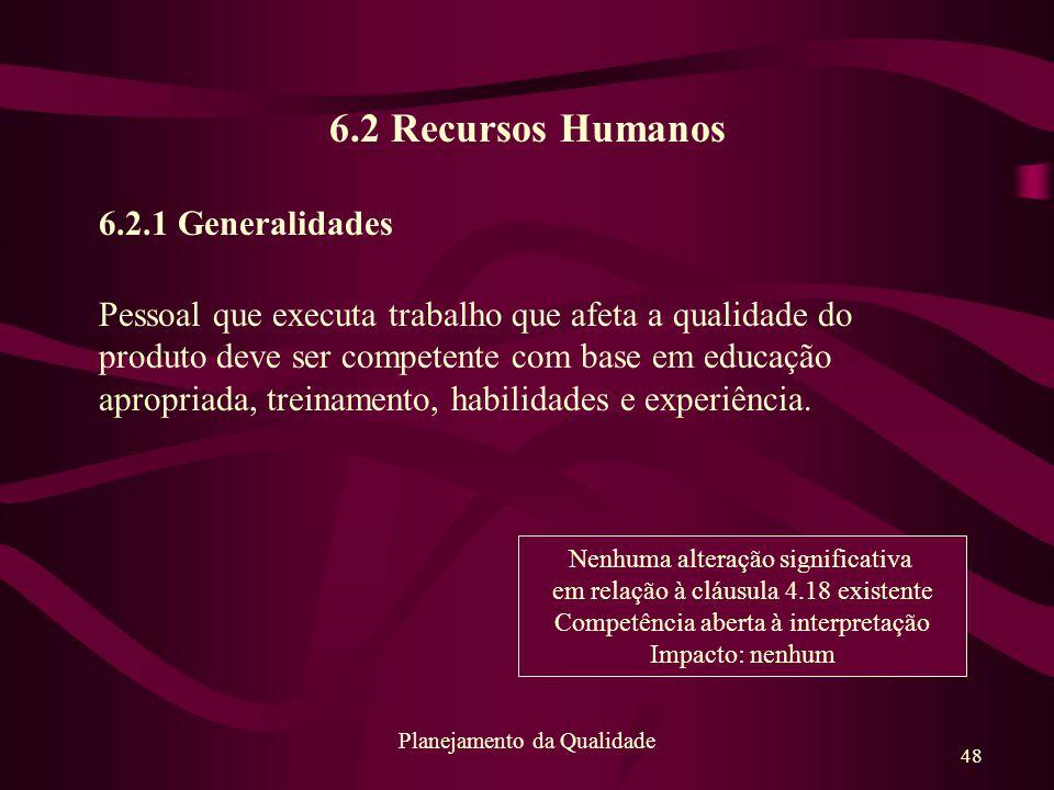 6.2 Recursos Humanos 6.2.1 Generalidades