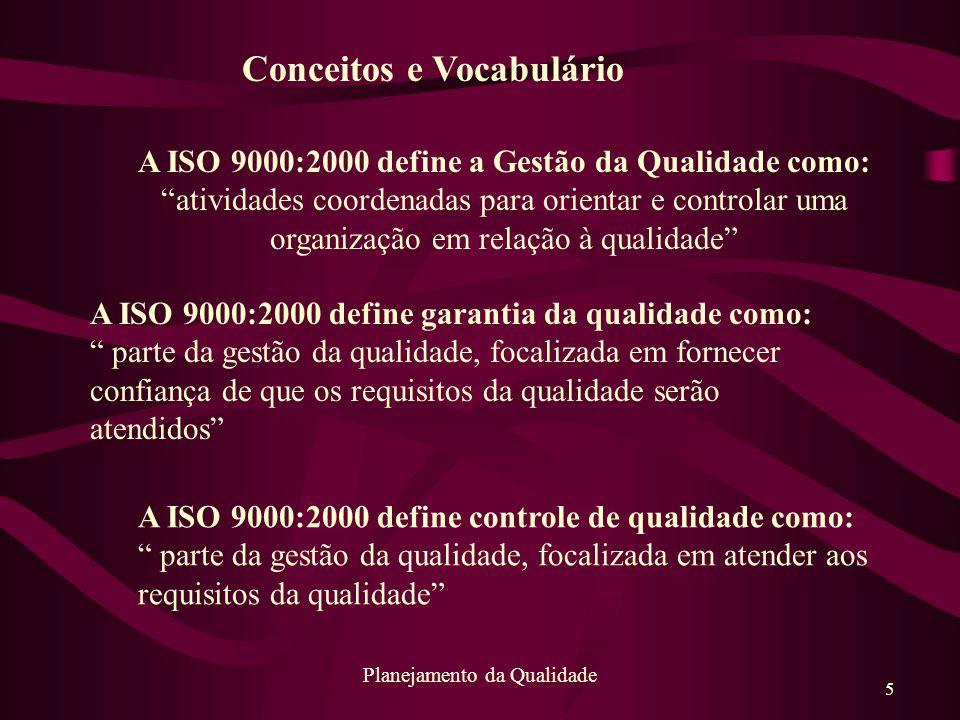 A ISO 9000:2000 define a Gestão da Qualidade como: