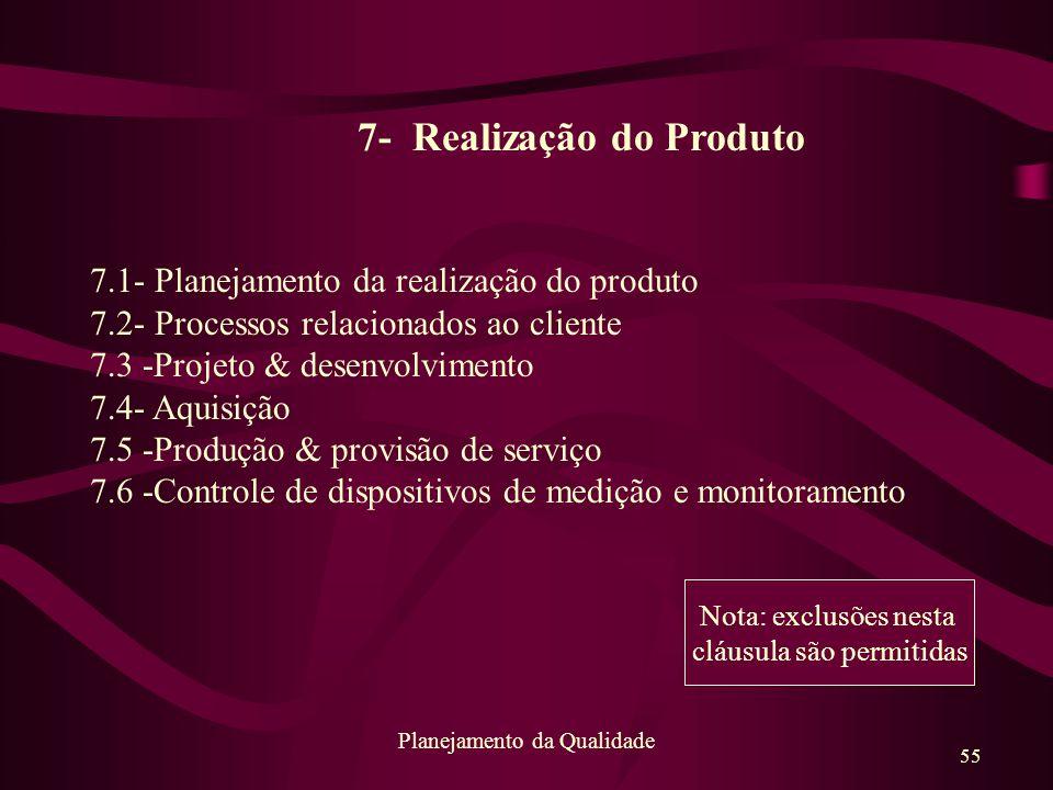 7- Realização do Produto
