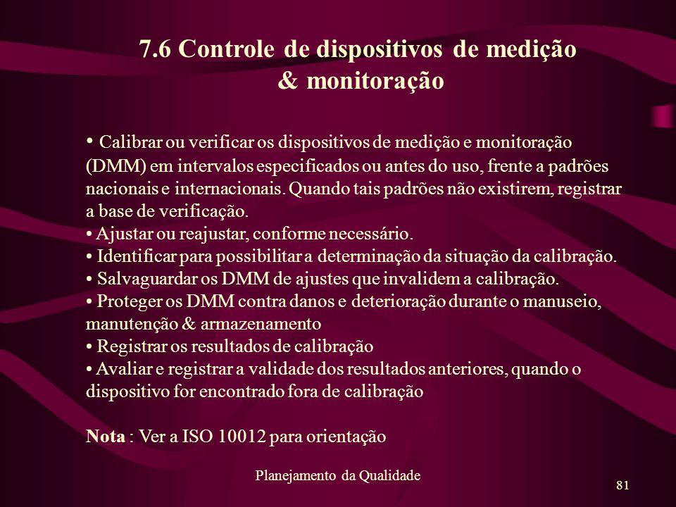 7.6 Controle de dispositivos de medição