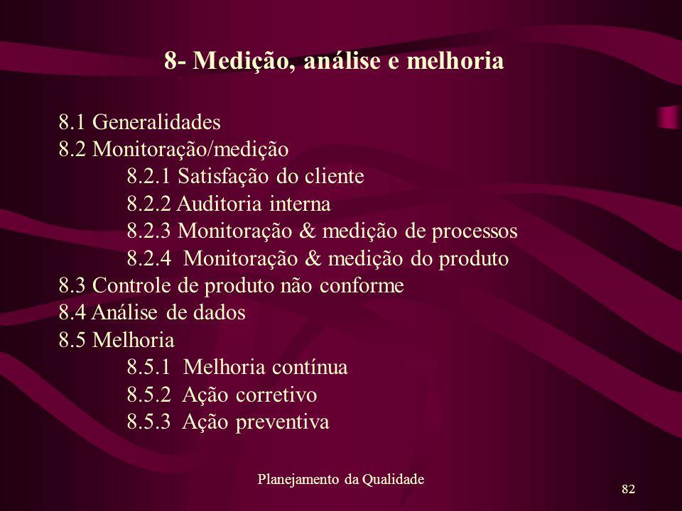8- Medição, análise e melhoria