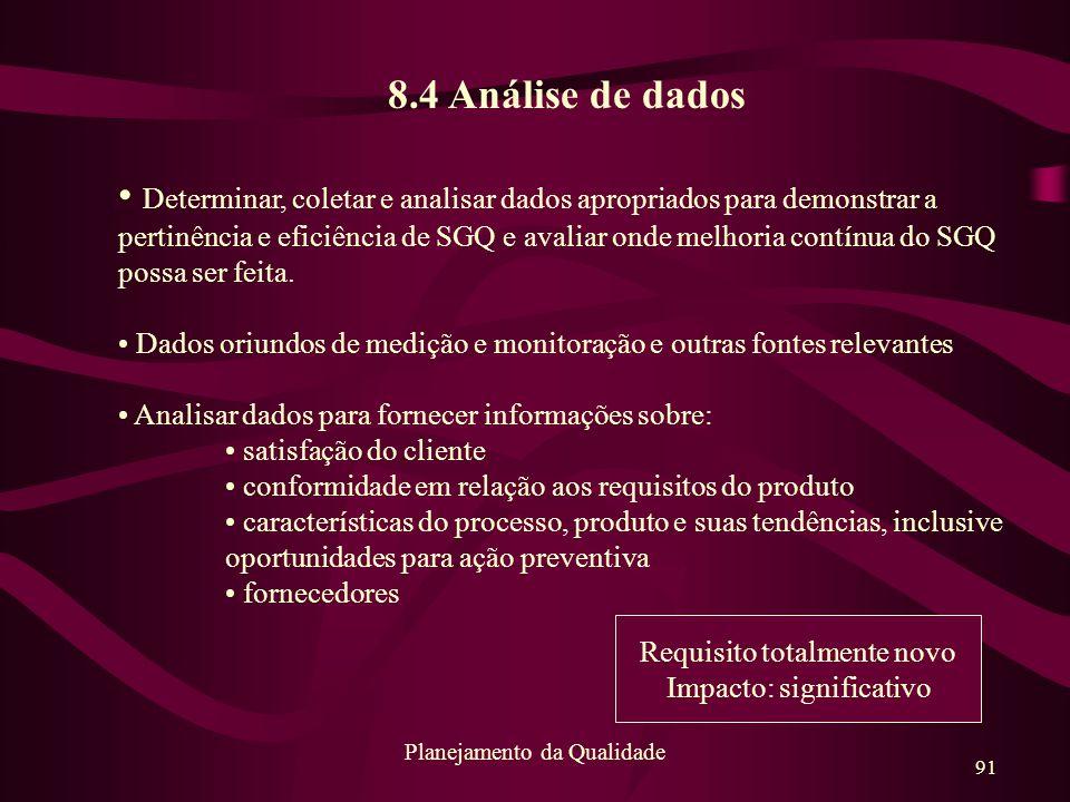 8.4 Análise de dados