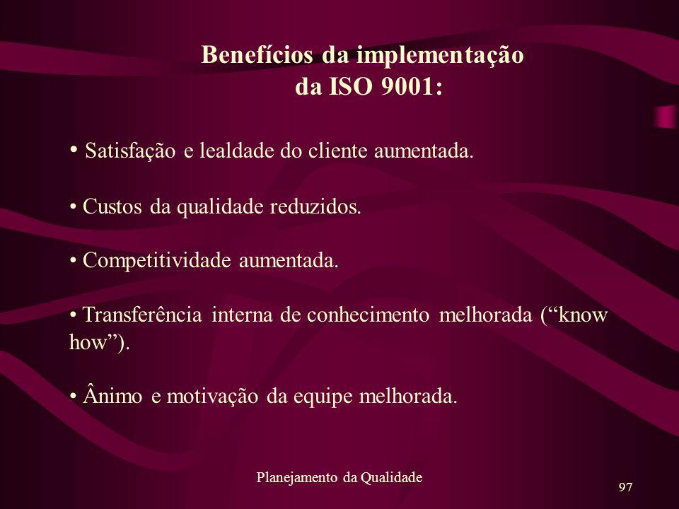 Benefícios da implementação