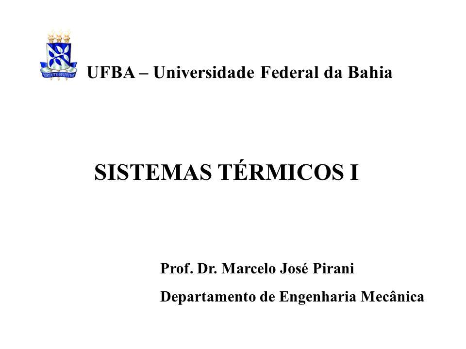 SISTEMAS TÉRMICOS I UFBA – Universidade Federal da Bahia