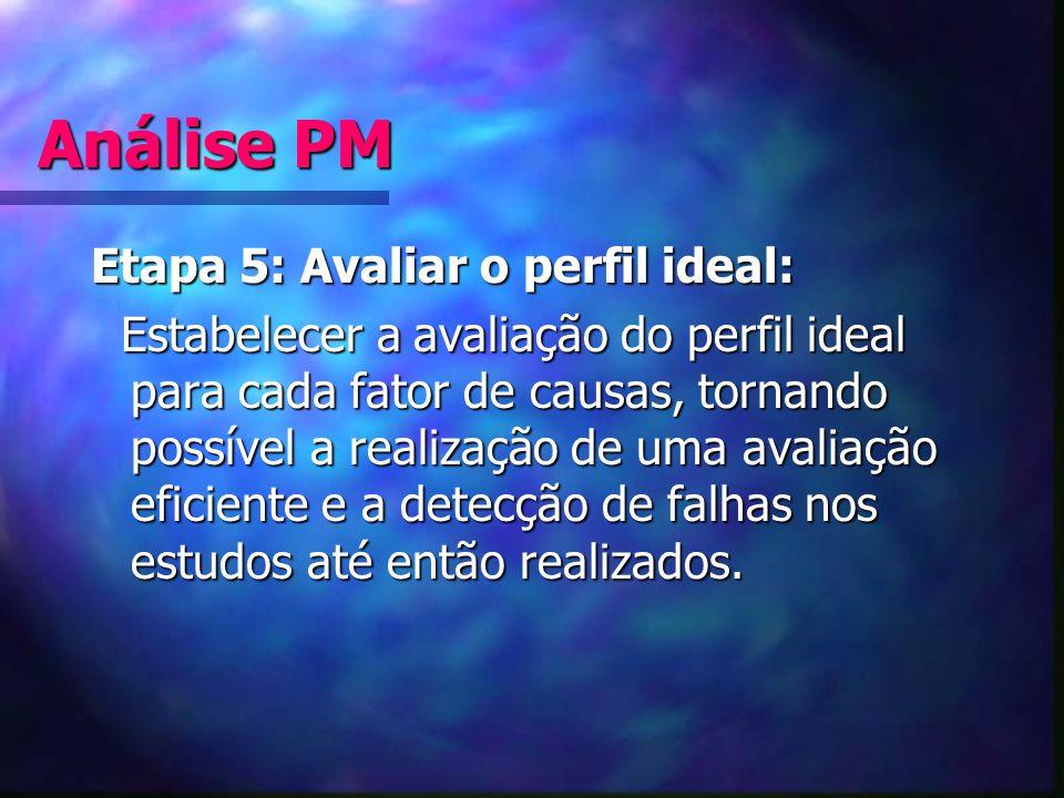 Análise PM Etapa 5: Avaliar o perfil ideal: