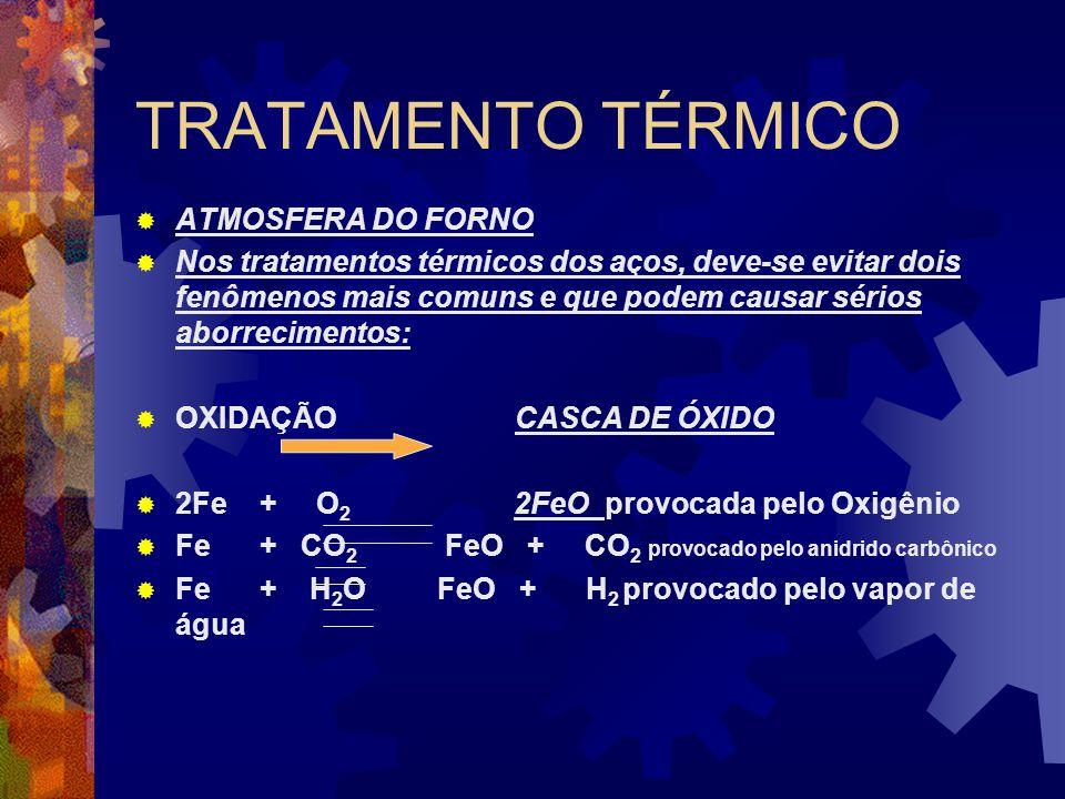 TRATAMENTO TÉRMICO ATMOSFERA DO FORNO
