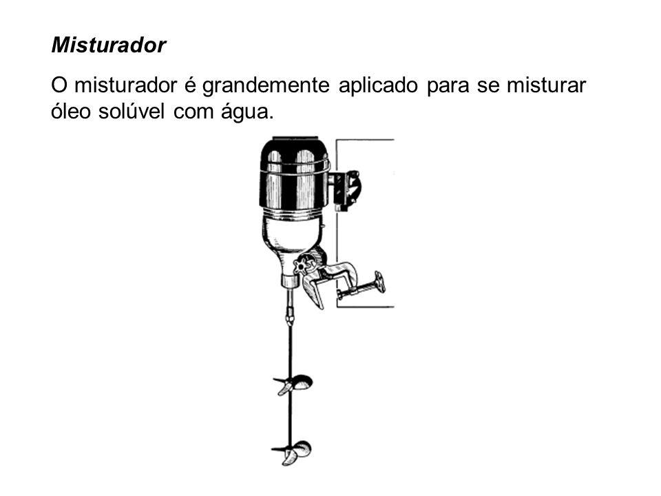 Misturador O misturador é grandemente aplicado para se misturar óleo solúvel com água.