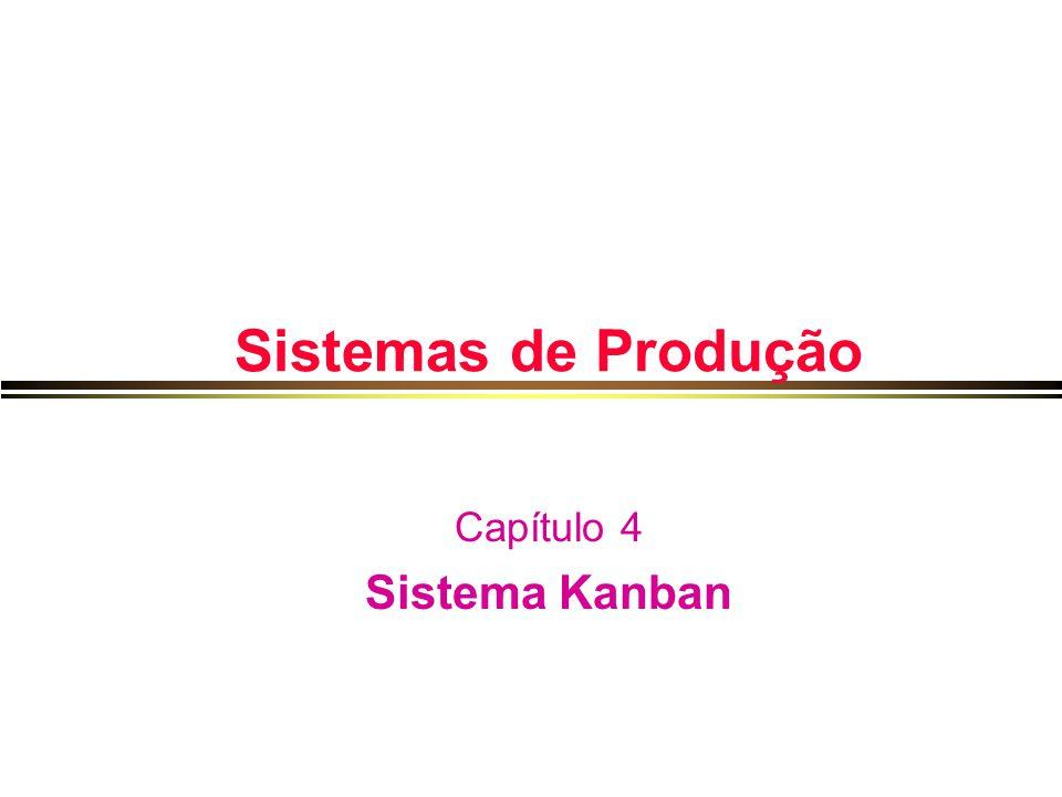 Sistemas de Produção Capítulo 4 Sistema Kanban