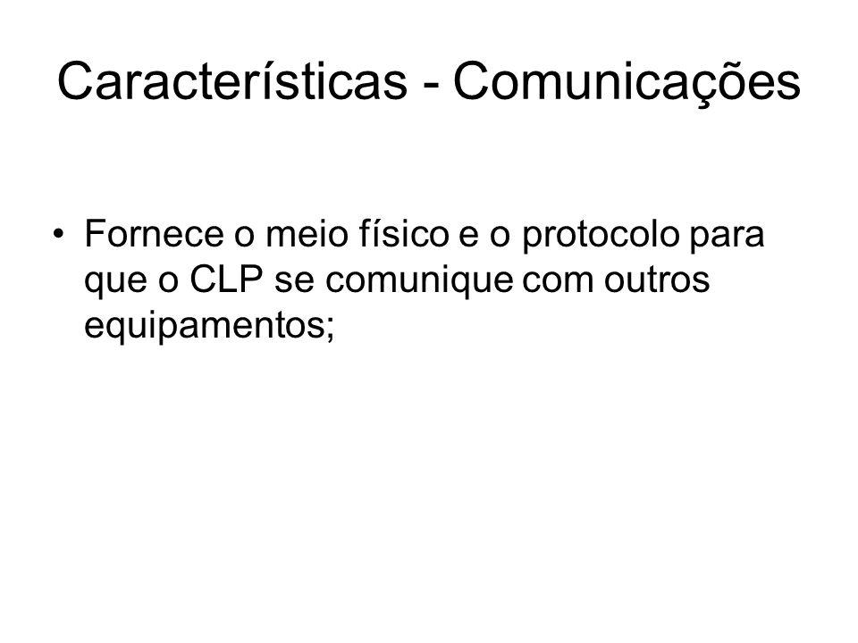 Características - Comunicações