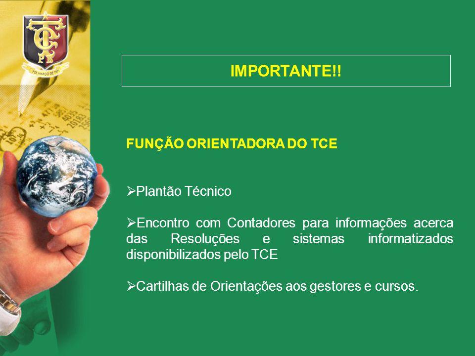 IMPORTANTE!! FUNÇÃO ORIENTADORA DO TCE Plantão Técnico