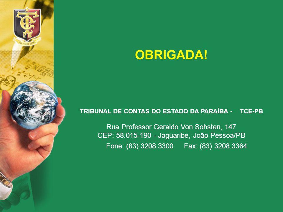 TRIBUNAL DE CONTAS DO ESTADO DA PARAÍBA - TCE-PB