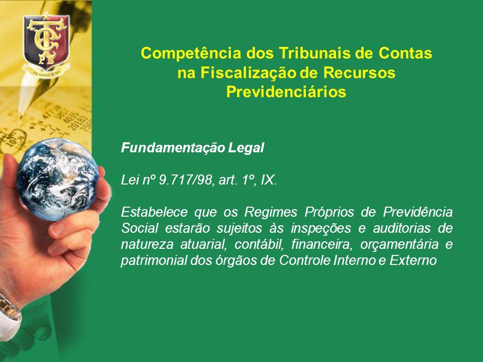 Competência dos Tribunais de Contas