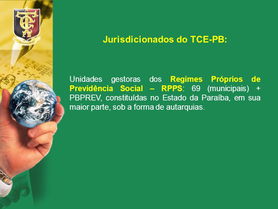 Jurisdicionados do TCE-PB: