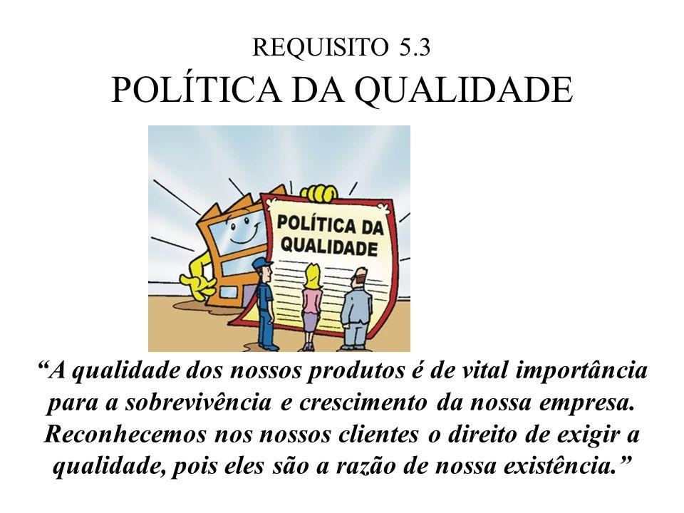 POLÍTICA DA QUALIDADE REQUISITO 5.3