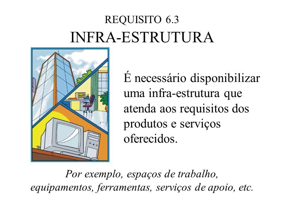 REQUISITO 6.3 INFRA-ESTRUTURA. É necessário disponibilizar uma infra-estrutura que atenda aos requisitos dos produtos e serviços oferecidos.
