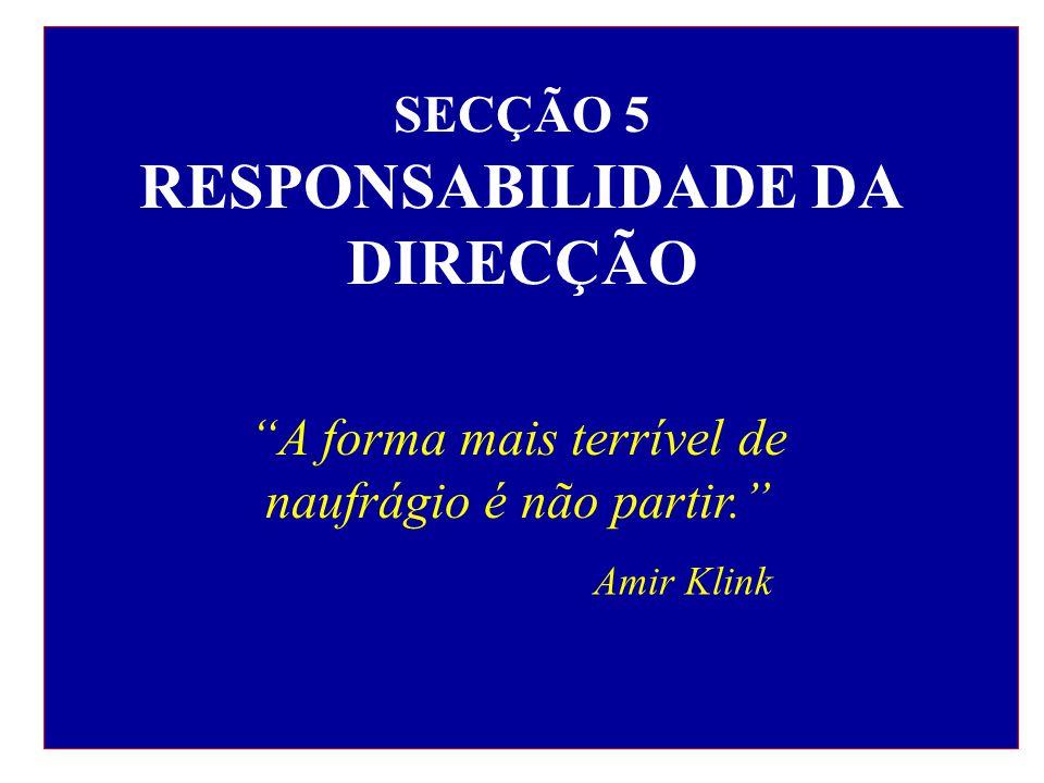 SECÇÃO 5 RESPONSABILIDADE DA DIRECÇÃO