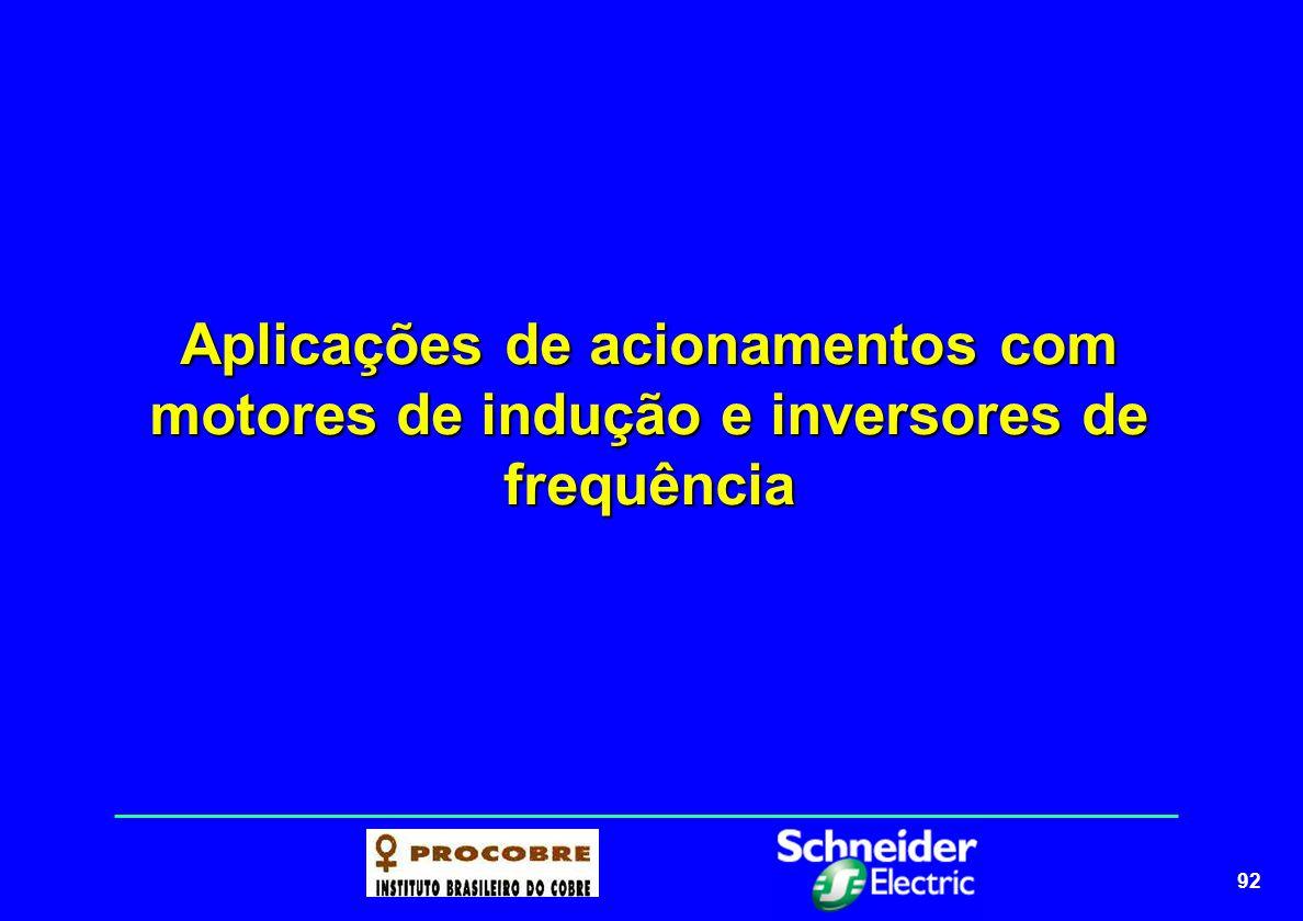 Aplicações de acionamentos com motores de indução e inversores de frequência