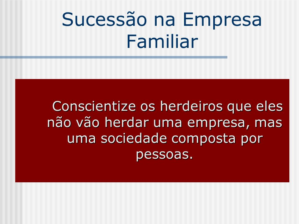Sucessão na Empresa Familiar