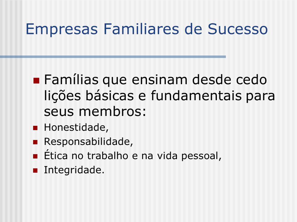 Empresas Familiares de Sucesso