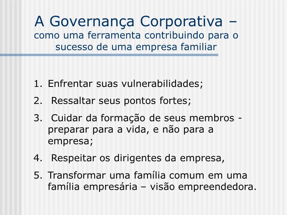 A Governança Corporativa – como uma ferramenta contribuindo para o sucesso de uma empresa familiar