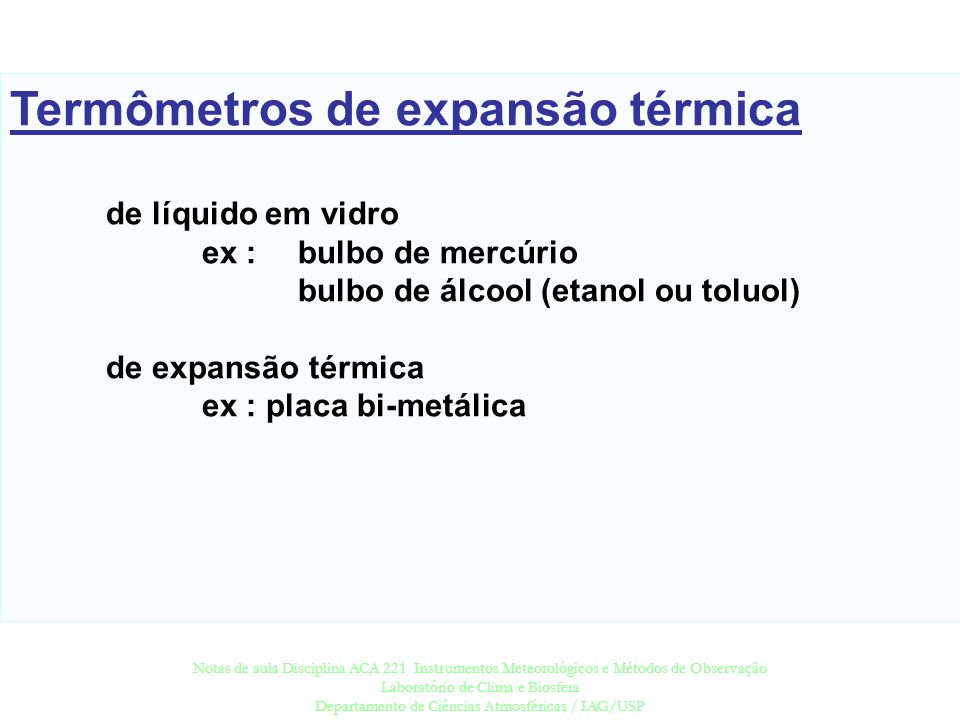 Termômetros de expansão térmica