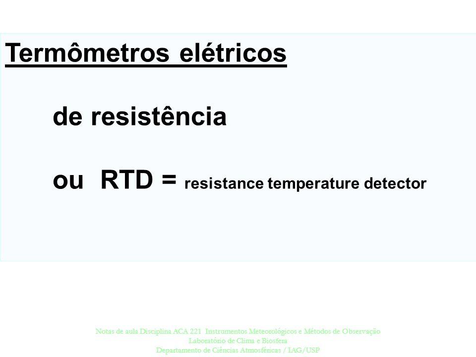 Termômetros elétricos de resistência
