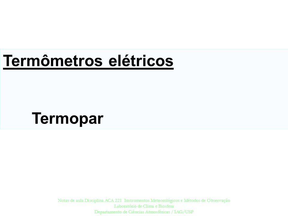 Termômetros elétricos