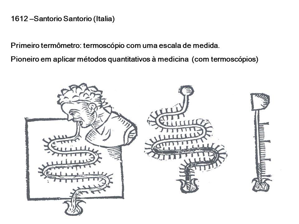 1612 –Santorio Santorio (Italia)