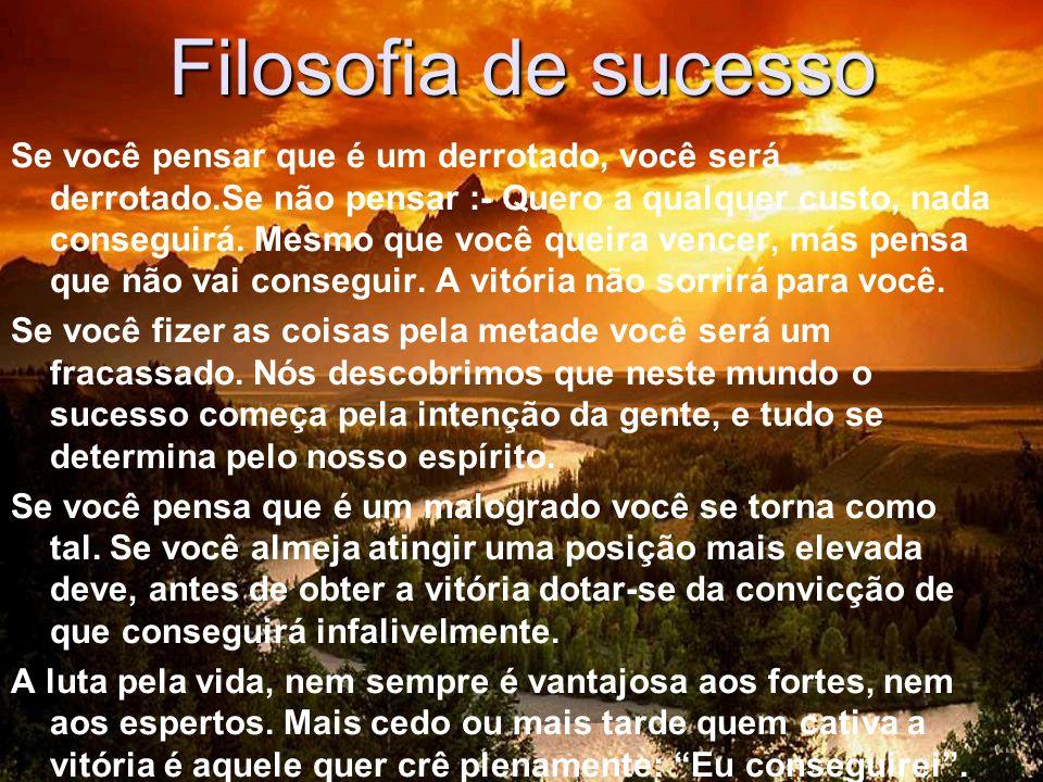 Filosofia de sucesso