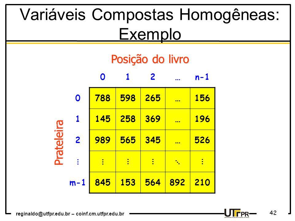 Variáveis Compostas Homogêneas: Exemplo