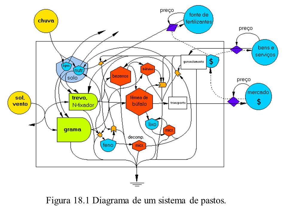 Figura 18.1 Diagrama de um sistema de pastos.